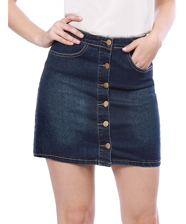 Allegra Womens Pockets Button Washed