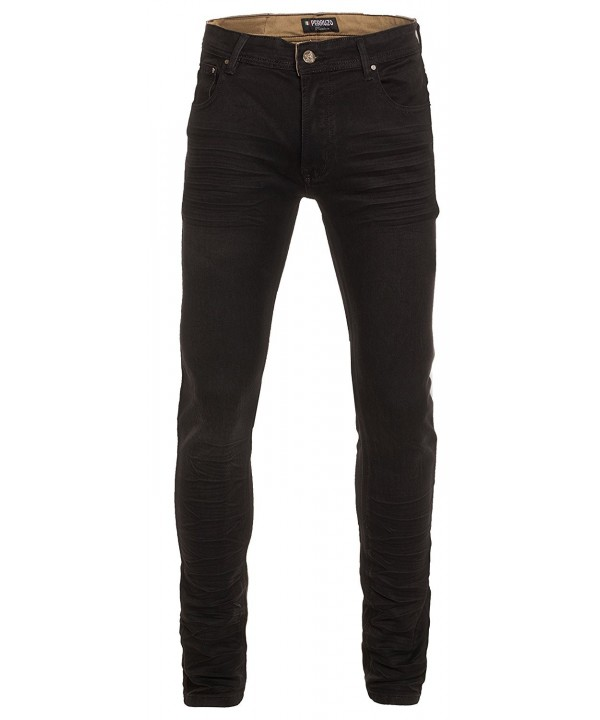 Perruzo Biker Ripped Skinny Denim
