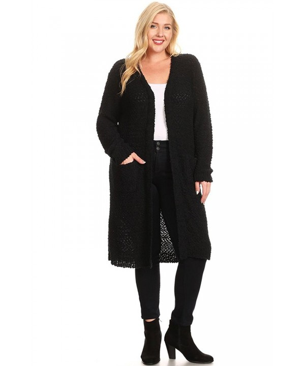Bubble Womens Sleeve Front Cardigan