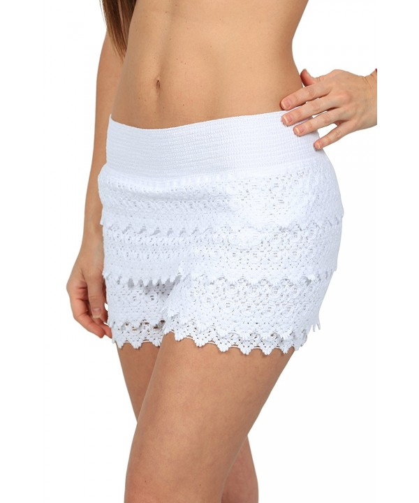 USA Casual Crochet Miniskirts X Large