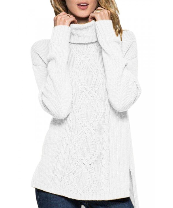 Lacostew Womens Turtle Ribbed Sweater