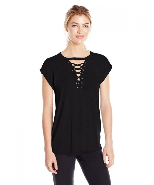 Gottex Womens Front Lace Black