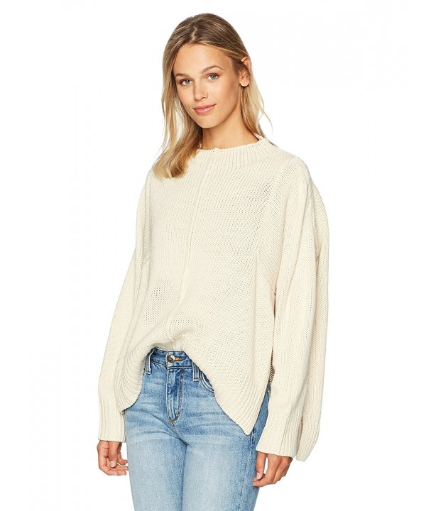 Lucca Couture Womens Boyfriend Sweater