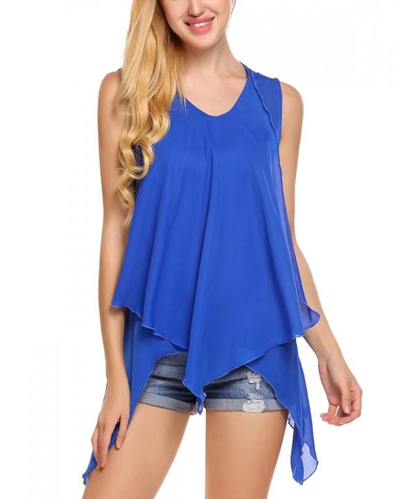 Zeagoo Loose fit Sleeveless Lightweight T shirt