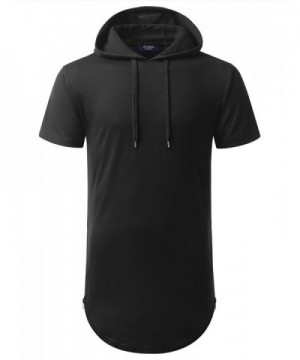 AIYINO Hipster Longline Hooded T Shirt