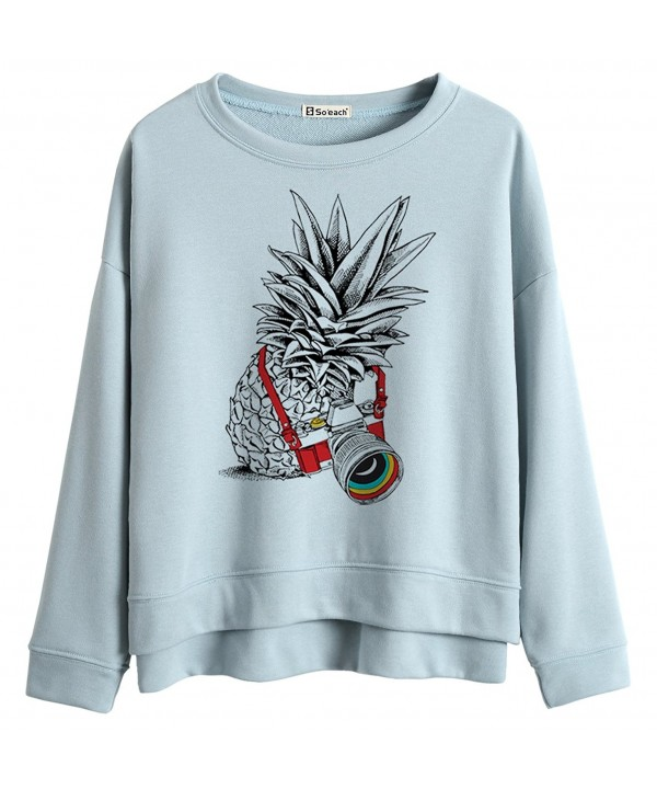 Soeach Pineapple Graphic Sweatshirt Pullover