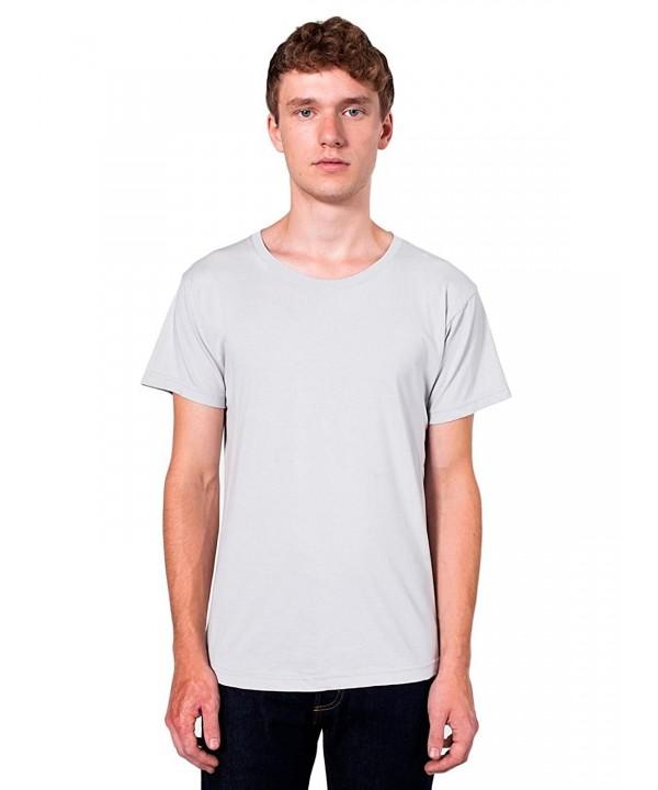 American Apparel Crewneck T Shirt Silver