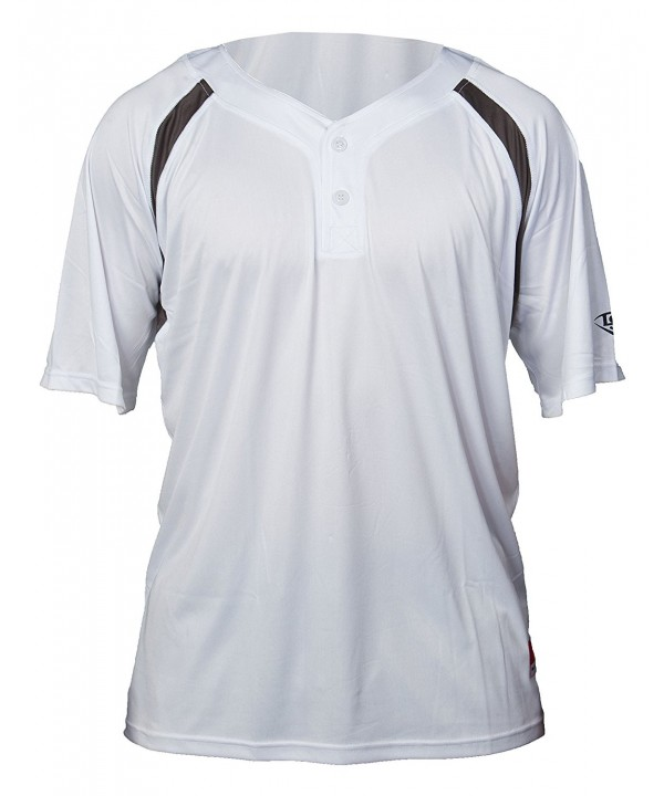 Louisville Slugger 2 Button Henley Sleeve