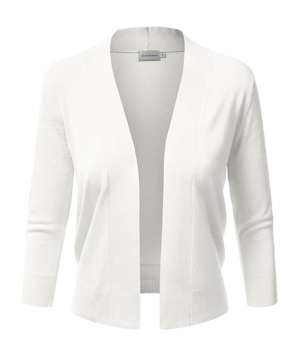 JJ Perfection Womens Cropped Cardigan