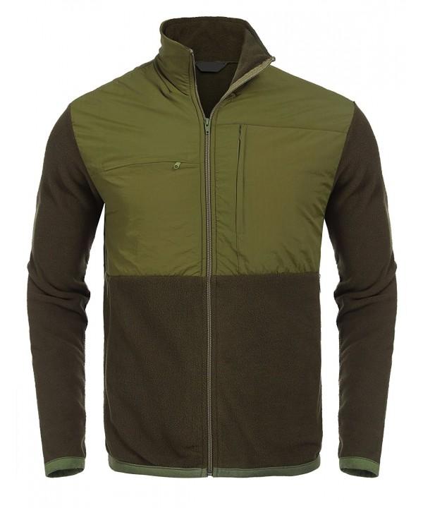 JINIDU Front zip Casual Sleeves Fleece