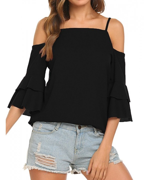 Tobrief Womens Shoulder Sleeve Chiffon
