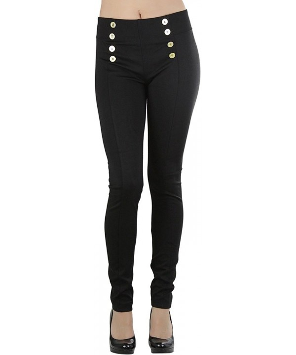 ToBeInStyle Womens 8 Button Ponte Leggings