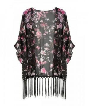 Choies Womens Floral Kimono Coverup