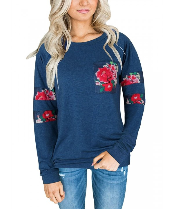 Zhaoyun Womens Crewneck Sleeve Sweatshirt