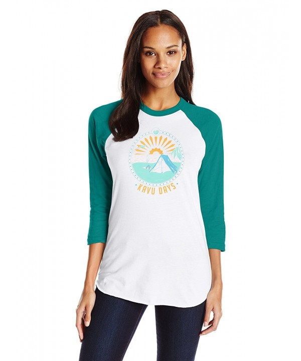 KAVU Retro Athletic Shirt Evergreen