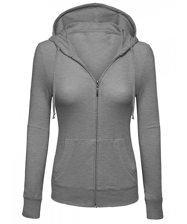 Womens Sleeve Hoodie Jacket Heather