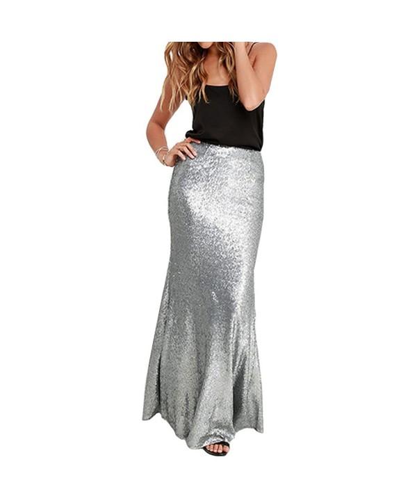 Aisa Womens Sequin Fishtail Elegant