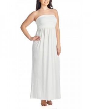 Women\'s Plus Size Comfortable Maxi Tube Dress - White ...
