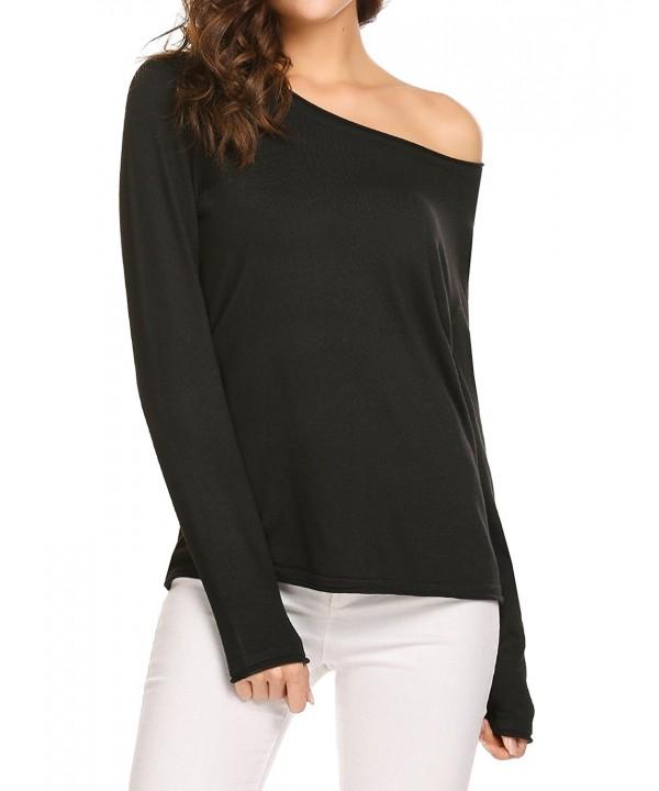Soteer Shoulder Pullover Sweater Knitted