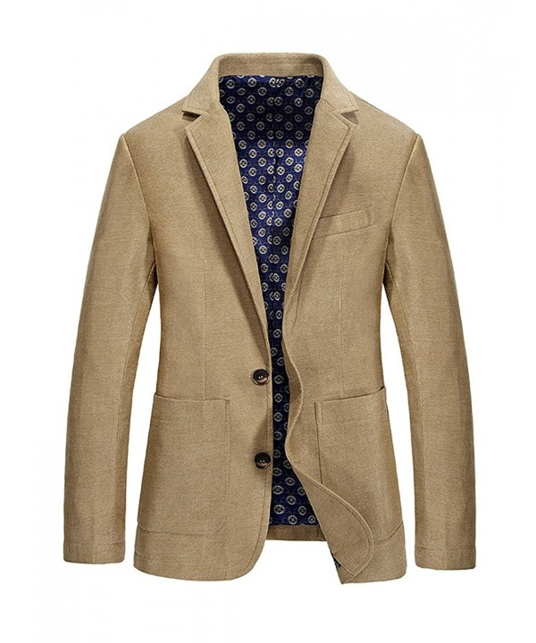 Gihuo Casual Classic Notched Two Button
