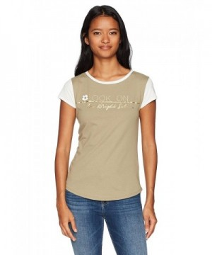 WallFlower Womens Sleeve Graphic Olive