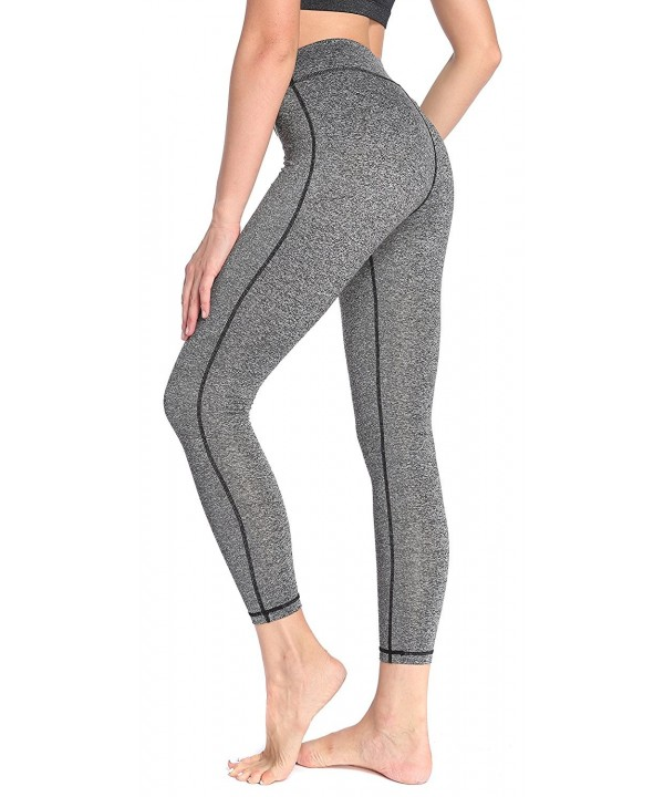 SILKWORLD Womens Pockets Workout Leggings