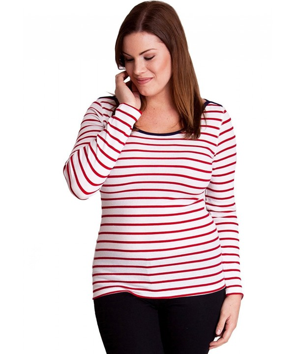 Horizontal Striped Sleeve Pullover X Large