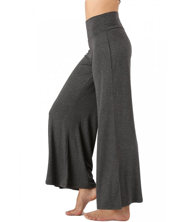 Classic Stretch Palazzo Lounge Charcoal