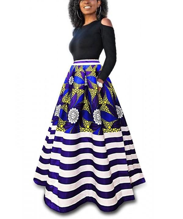 VLUNT Womens African Floral Pockets