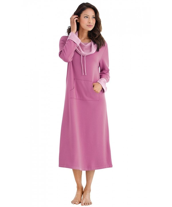 PajamaGram Womens Softest Nightgown Raspberry