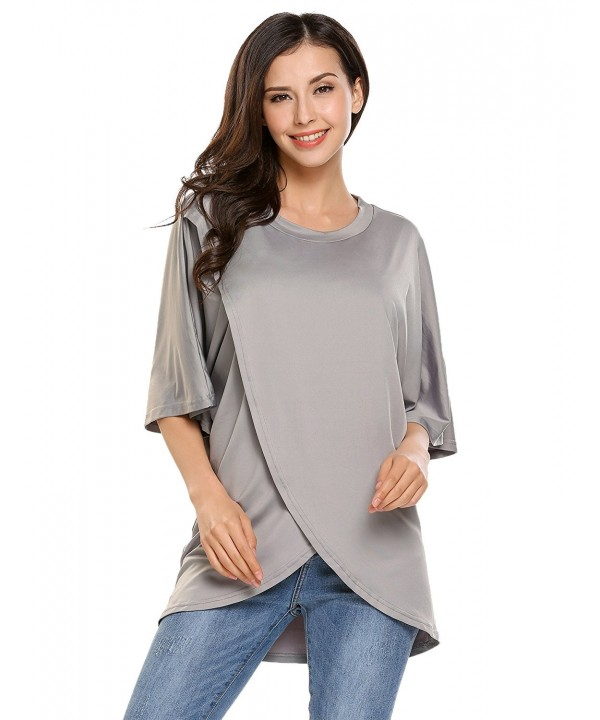 Beyove Crossover Sleeve Irregular Blouse