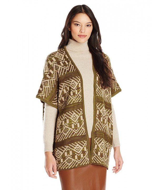 Allison Brittney Ladderback Jacquard Cardigan