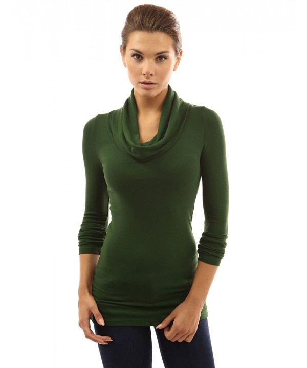 PattyBoutik Womens Tunic Medium Green