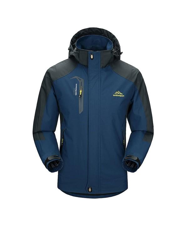 BUAAM Midweight Waterproof Windbreaker Raincoat