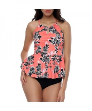 YUMDO Printed Swimsuits Swimwear Tankini