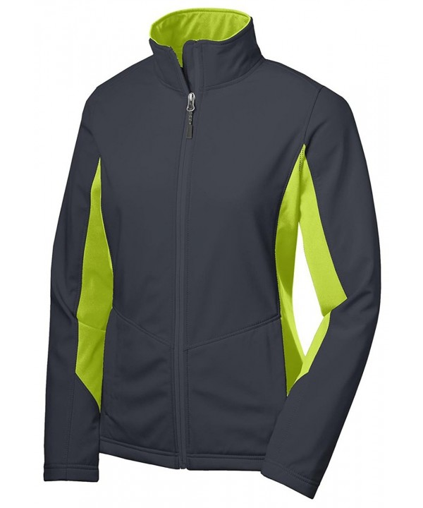 1fa8878f1 Women's Waterproof Soft Shell Jacket - Battleship Grey/ Charge Green ...