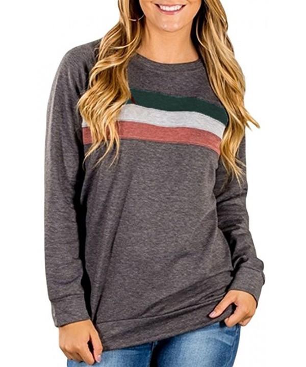 JOELLYUS Crewneck Sweatshirt Womens Sleeve