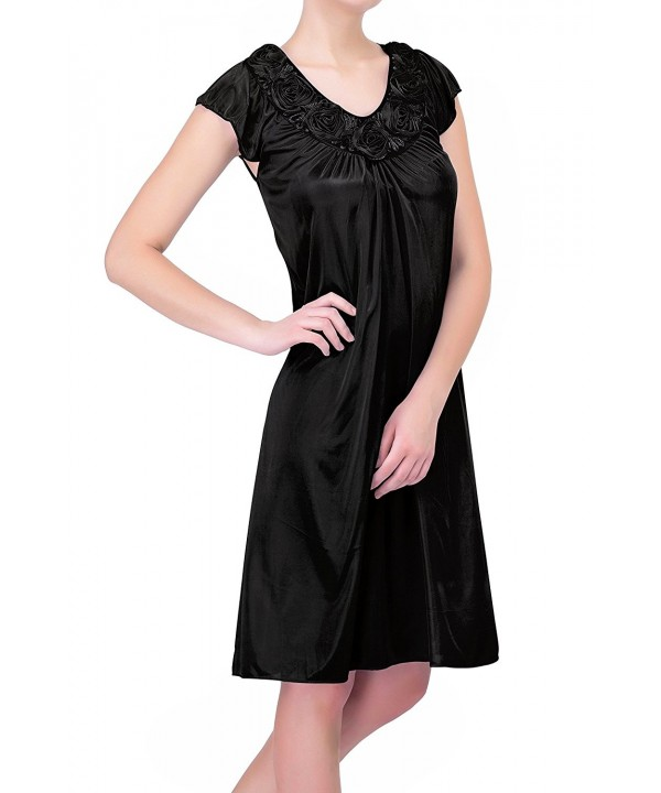 Womens plus_size Nightgowns1 Black 2X