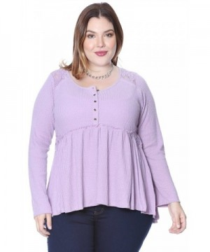 Grayson Shop Babydoll Henley Lavender
