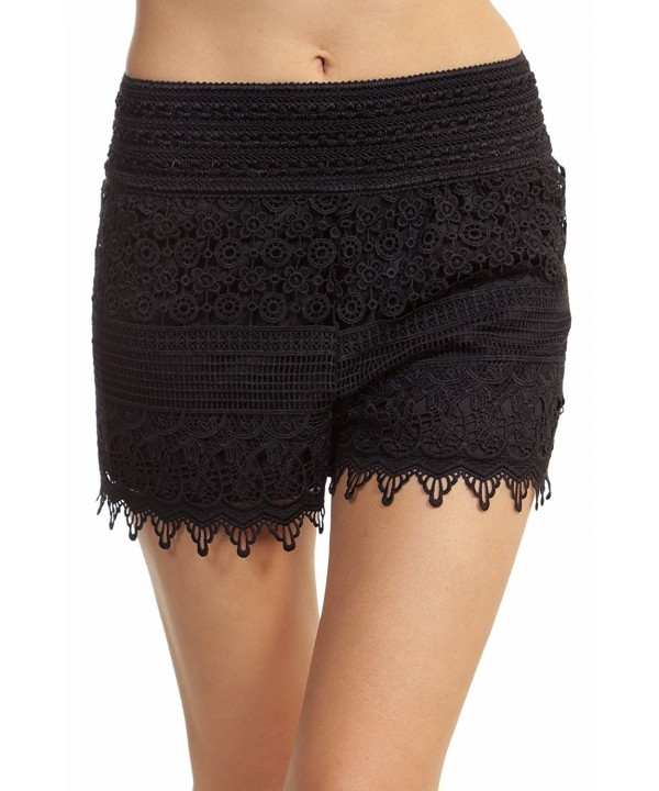 ToBeInStyle Womens Crotchet Lace Shorts