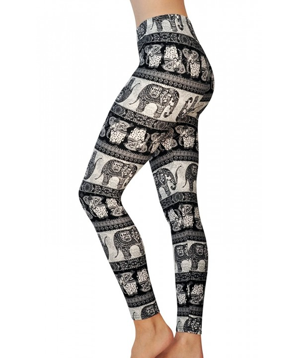 Comfy Yoga Leggings Prints Elephant
