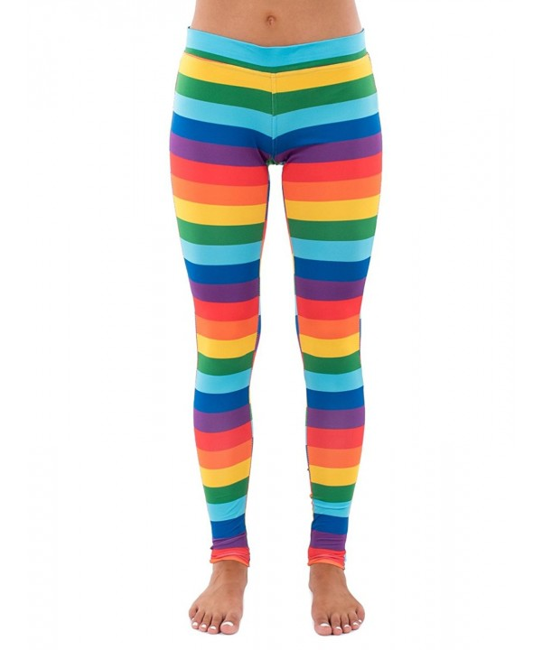 Tipsy Elves Rainbow Striped Leggings