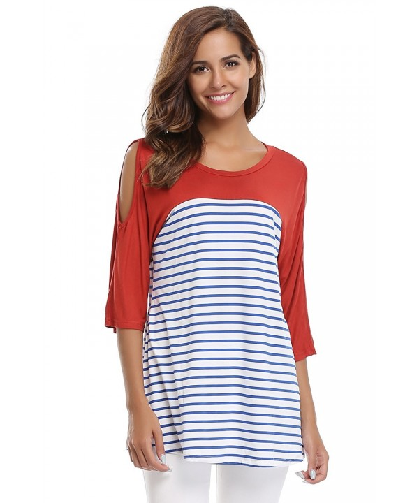 MISS MOLY Shoulder Blouses Striped