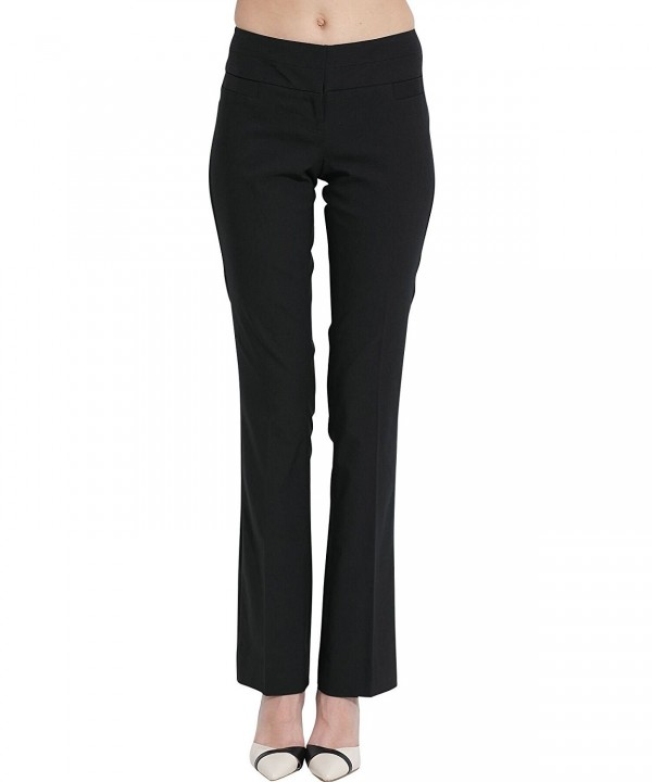 SATINATO Stretch Bootcut Classic Trousers