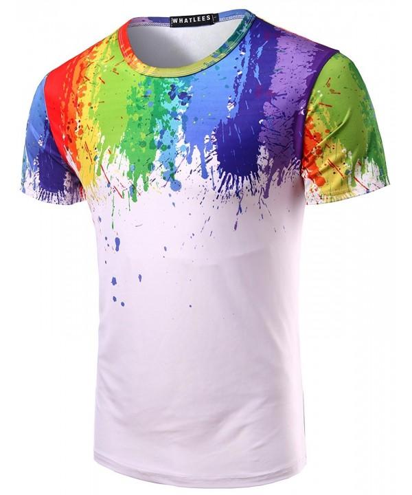 Whatlees Unisex Splashes Printed Sleeve