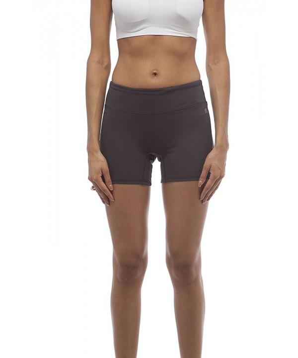 Solid Active Bicycle Shorts Darkgrey
