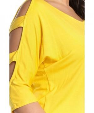 b4bd1335ce Women s Cut Out Shoulder Strappy Sleeve Top Junior   Jr Plus Sizes ...