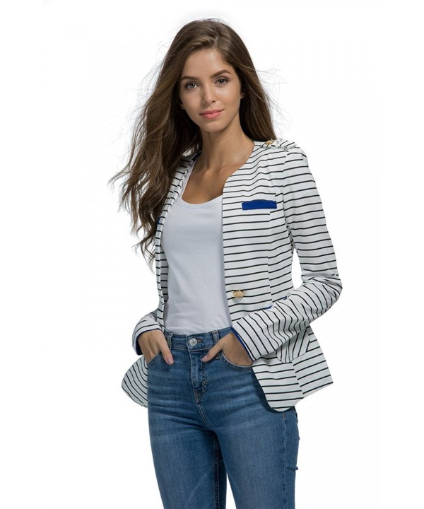 Womens Juniors Blazers Jacket Long sleeved