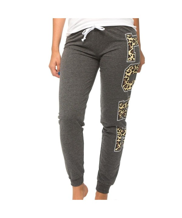 E358P CGY L Coco Limon Fleece Womens Jogger