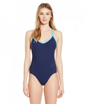 Anne Cole Locker Perforated Swimsuit